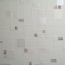 "Contour Spa Pastel 33' x 20.5"" Geometric 3D Embossed Wallpaper"