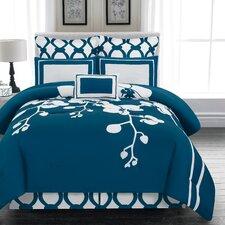 April 6 Piece Reversible Comforter Set