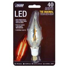40W 120-Volt Flame Tip LED Light Bulb