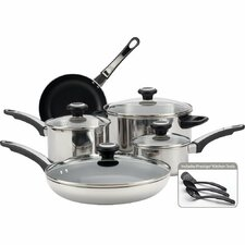 High Performance Stainless Steel 12 Piece Cookware Set