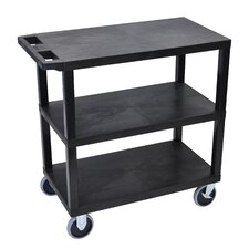E Series Heavy Duty Utility Cart with 3 Flat Shelves