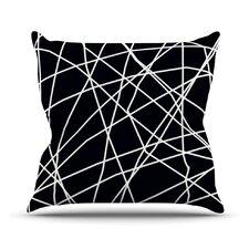 Paucina by Trebam Crazy Lines Throw Pillow