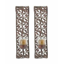 Patia Metal and Glass Sconce (Set of 2)