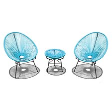 Acapulco 3 Piece Lounge Seating Group with Cushion