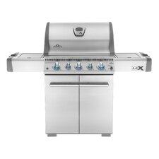 Lex Cart 6-Burner Propane Gas Grill with Cabinet