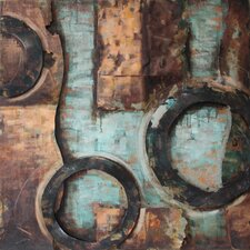 """""""Revolutions 1"""" Mixed Media Iron Hand Painted Dimensional Wall Décor"""