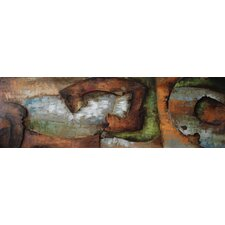"""""""Convergence 1"""" Mixed Media Iron Hand Painted Dimensional Wall Décor"""