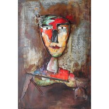 """""""Homme 3"""" Mixed Media Iron Hand Painted Dimensional Wall Décor"""