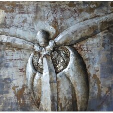 """""""Retro Airplane 1"""" Mixed Media Iron Hand Painted Dimensional Wall Décor"""