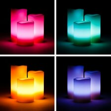 3 Piece Color Changing Candle Set