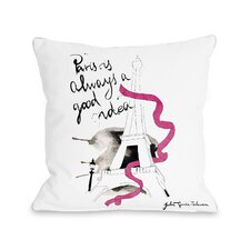 Paris Fleece Throw Pillow