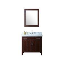 "Redford 36"" Single Bathroom Vanity Set with Mirror"