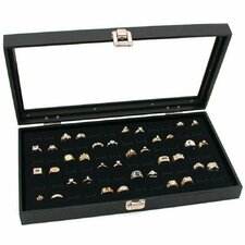 Glass Top Jewelry Display Case Ring Tray