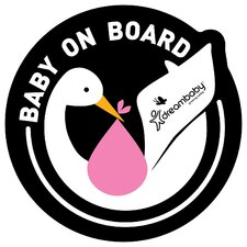 Baby on Board Adhesive Stork Wall Decal (Set of 2)