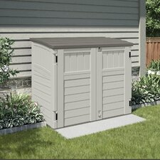 Utility 4.29 ft. W x 2.63 ft. D Plastic Horizontal Garbage Shed