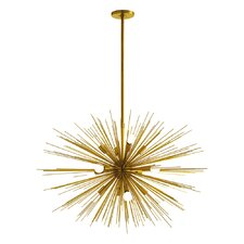 Zanadoo Gold 12-Light Sputnik Chandelier
