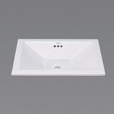 Ceramic Self Rimming Bathroom Sink