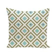 Diamond Mayhem Geometric Print Outdoor Pillow