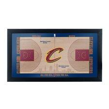 NBA Court Framed Graphic Art