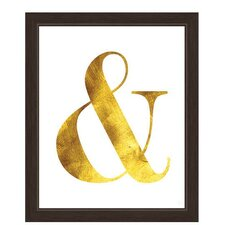 Ampersand Framed Textual Art