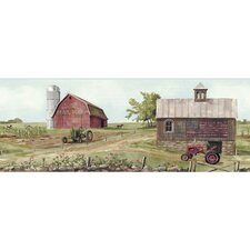 "Welcome Home Tractor / Barn 15' x 9"" Scenic Border Wallpaper"