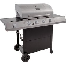 Classic 4-Burner Propane Gas Grill with Side Burner
