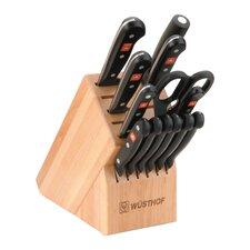 Gourmet 14 Piece Beech Knife Block Set