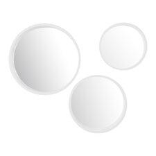 3 Piece Round Wall Mirror Set