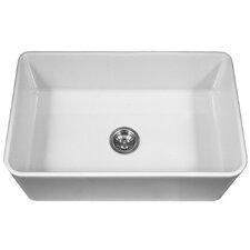 "Platus 33"" x 20"" Apron Front Fire Clay SIngle Kitchen Sink"