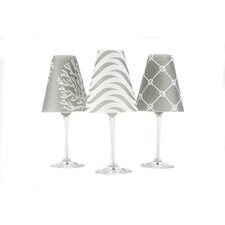 "Caribbean 4.5"" Paper Empire Candelabra Shade (Set of 6)"