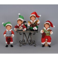 Christmas 4 Piece Wine Elf Figurine Set
