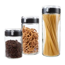 Flip-Top 3 Piece Kitchen Canister Set