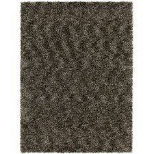 Blossom Textured Shag Charcoal Area Rug