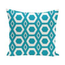 Berna Geometric Print Outdoor Pillow