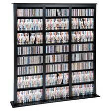 Triple Width Black Barrister Storage Tower