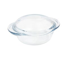 Round Glass Casserole with Lid