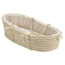 Kaelyn Moses Basket with Gingham Bedding