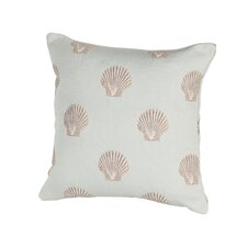 Coastal Scallop Indoor/Outdoor Throw Pillow