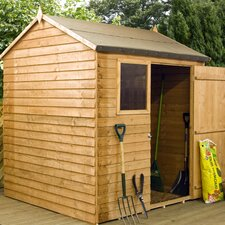 6 Ft. W x 4 Ft. D Wooden Overlap Reverse Apex Storage Shed