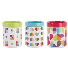 3-Piece Stackable Storage Jar