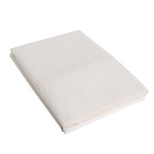 Percale Cotton 300 Thread Count Solid Pillowcase (Set of 2)