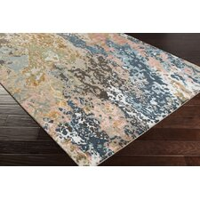 Chemistry Knotted Blue/Brown Area Rug