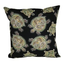 Coastal Tranquil Turtles Indoor/Outdoor Throw Pillow