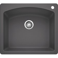 "Diamond 25"" x 22"" Single Bowl Drop-In Kitchen Sink"