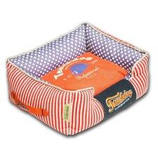 Polka-Striped Polo Easy Wash Rectangular Fashion Dog Bed