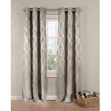 Lana Geometric Semi-Sheer Grommet Single Curtain Panel
