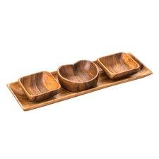 Caraz 4 Piece Wood Serving Dish Set