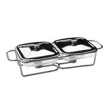 Twin Steel Food Warmer with Marinex Glass Dishes