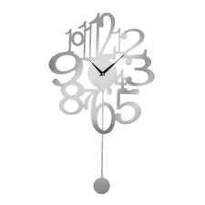 Pendulum Numbers Wall Clock
