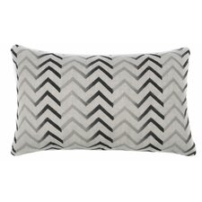 Zig Zag Cotton Lumbar Pillow